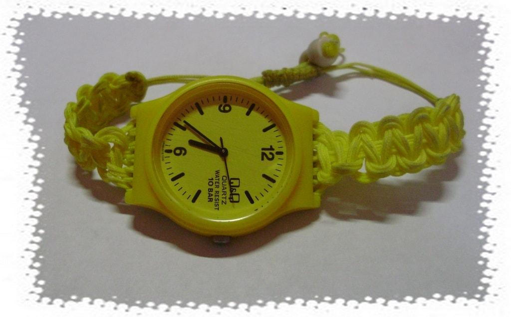 часы с браслетом макраме